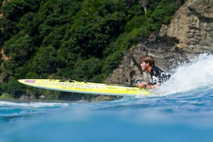 Zane Schweitzer wins the Prone Paddleboard Race, Event 2 of The Ultimate Waterman