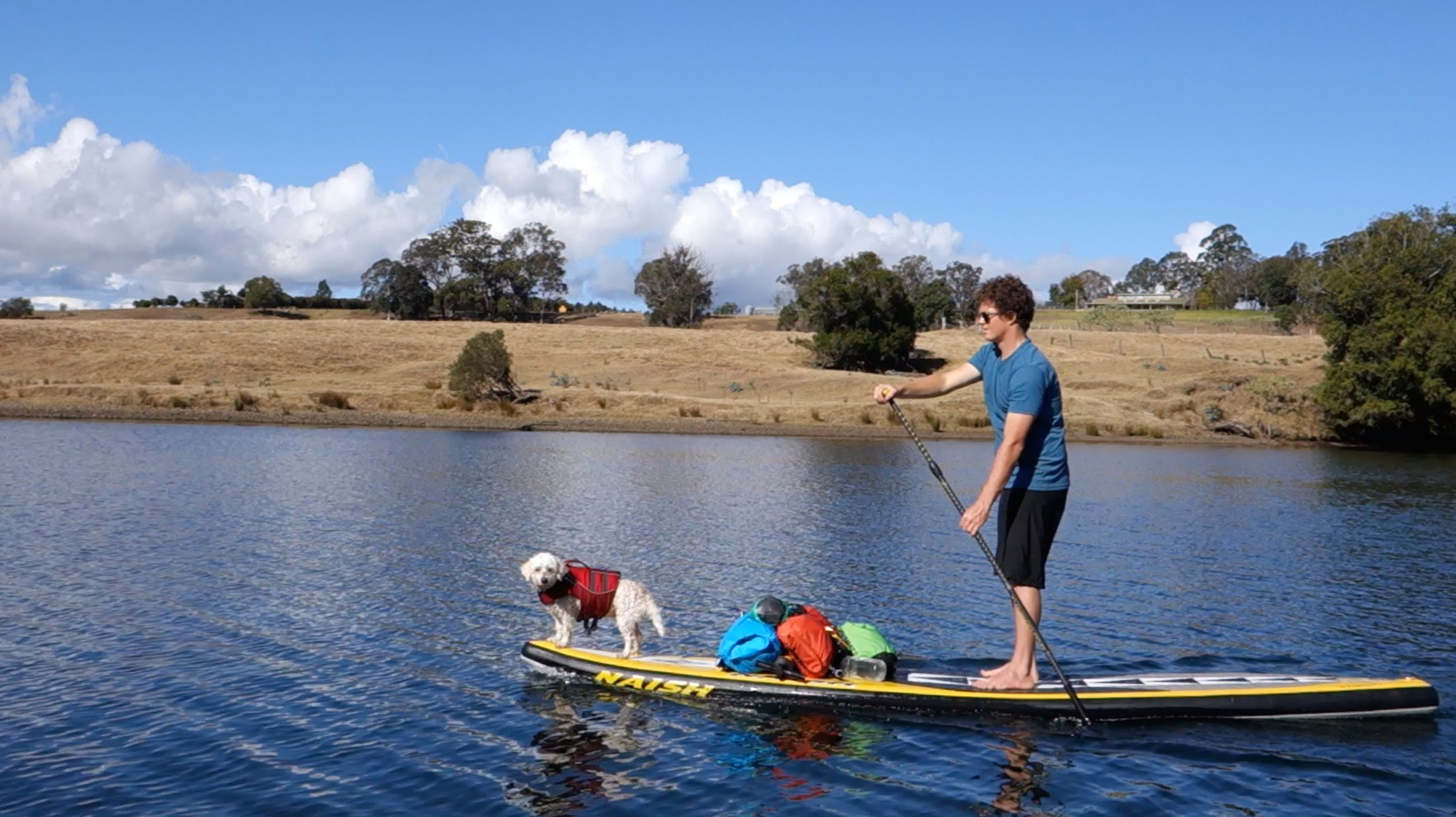 46K on SUP on the Manning River, Australia