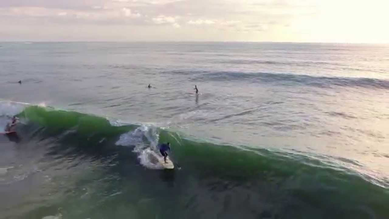 Aerial Views of a SUP Surf Session in Jupiter, FL
