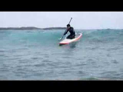 Beginner SUP surf in Okinawa, Japan