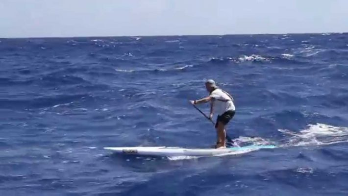 Josh Riccio, Molokai to Oahu on a Rogue SUP