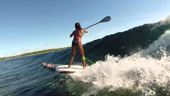 Manette Alcala SUP surfing in the Philippines