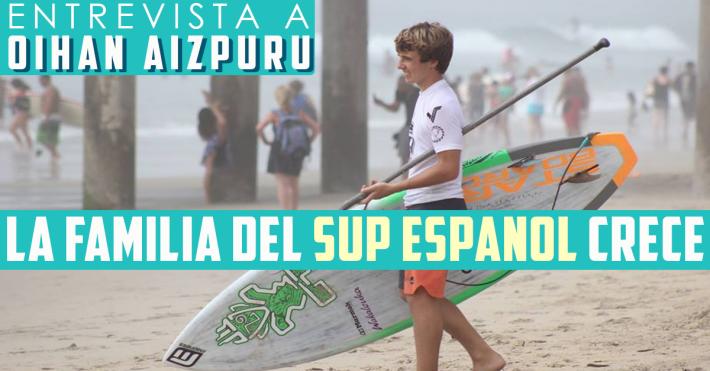 La familia del SUP acoge al surfista vasco Oihan Aizpuru