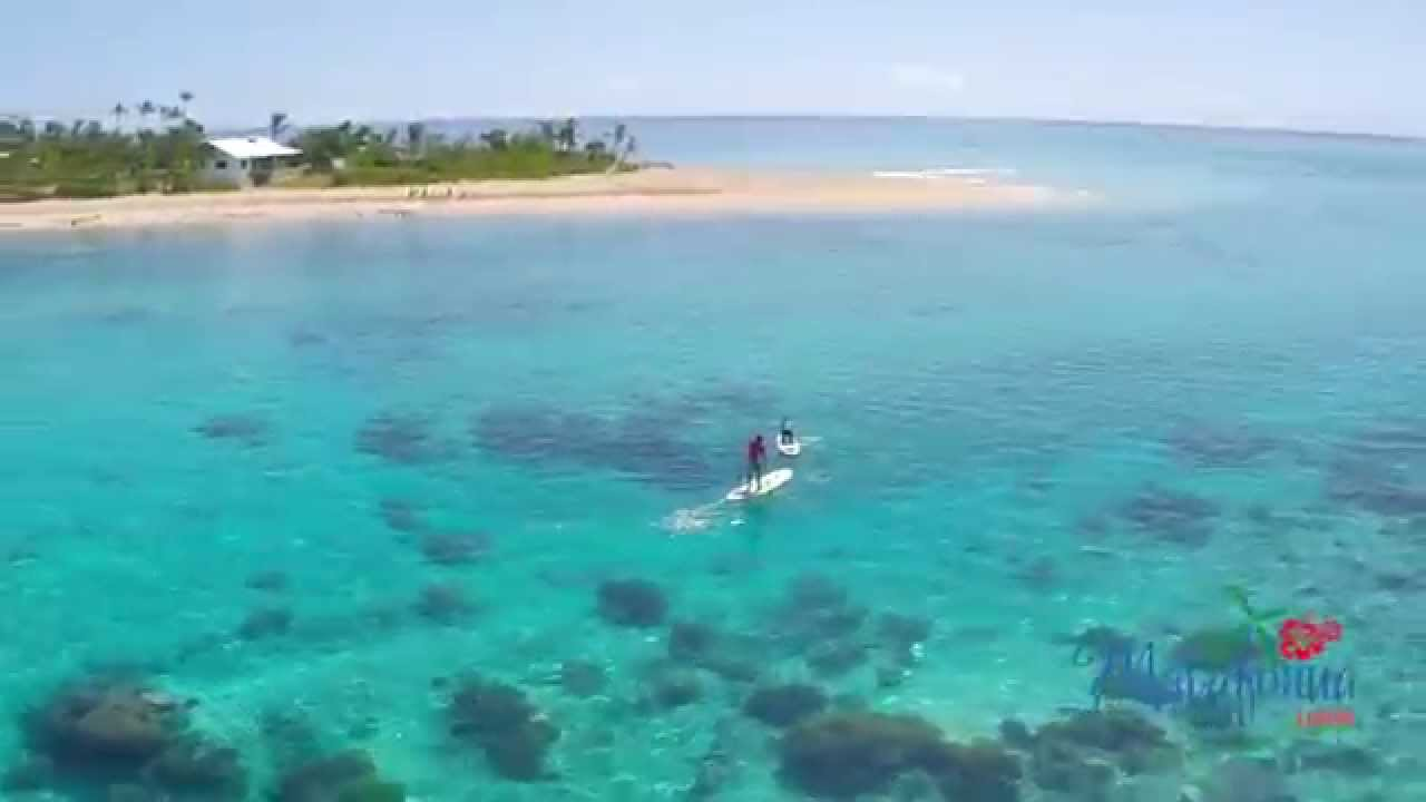 Stand Up Paddle Drone Video in Tonga