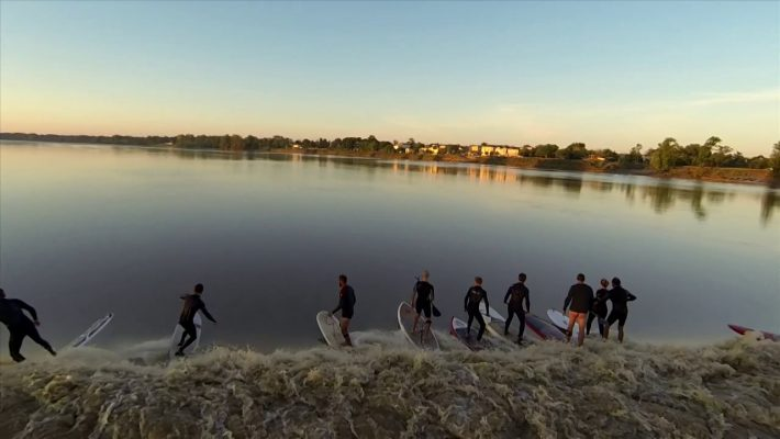 Stunning Drone Footage of a Tidal Bore in France