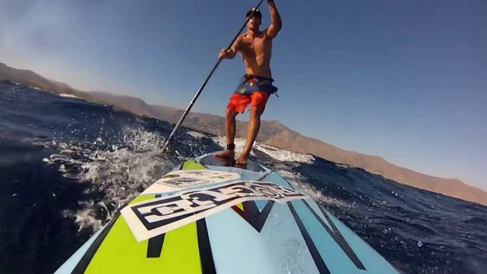 SUP Downwind Skills in South Evia, Greece