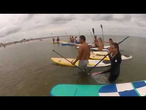 Paddleboarding get-together in Vivavento, Brazil