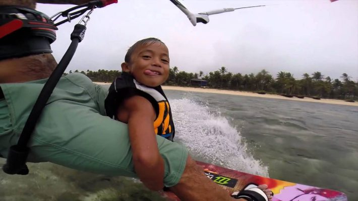 SUP in Siargao with Kyron Rathbone and young Kai
