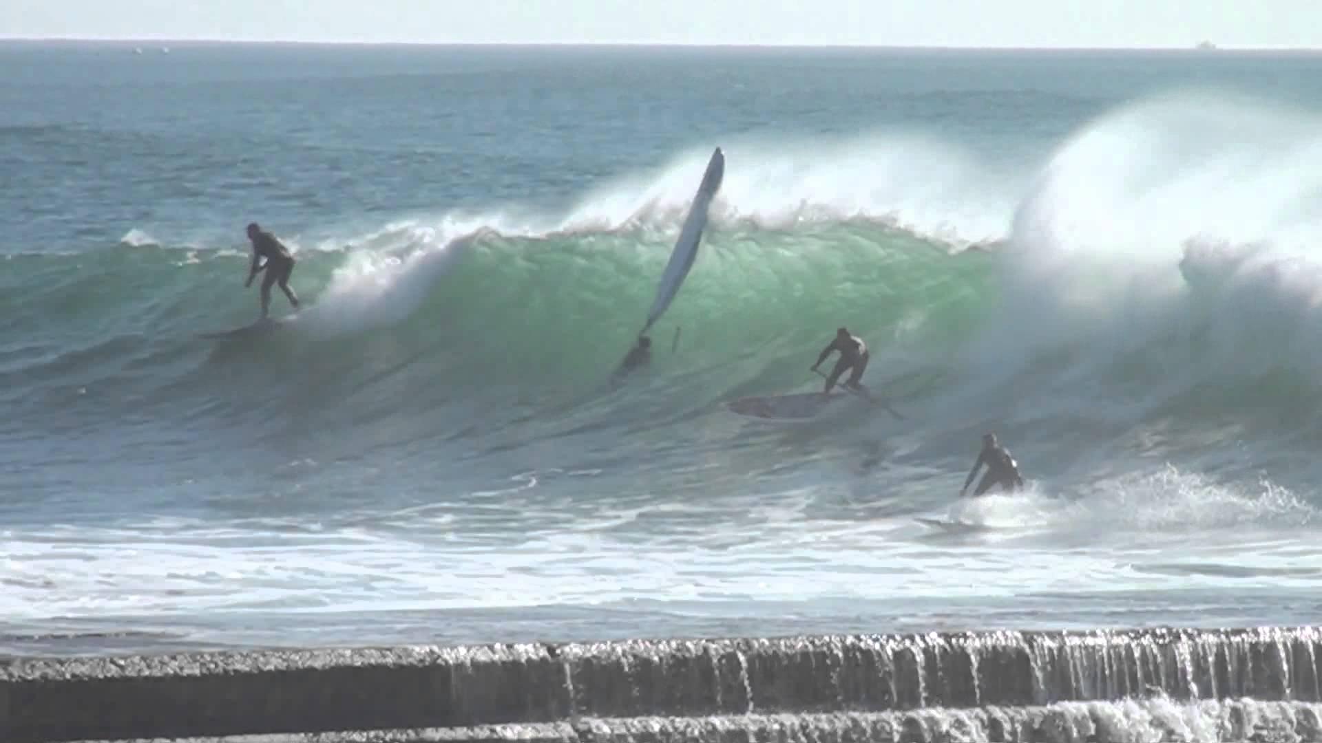 SUP surf on praia da Rata, Brazil