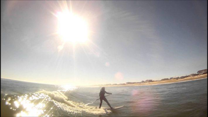Surfing Sandbridge beach, Virginia
