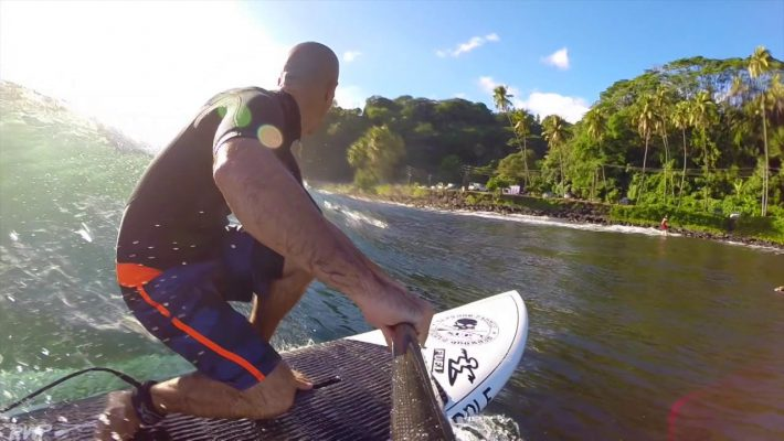 Tahiti SUP Surf with Jean Lucchini