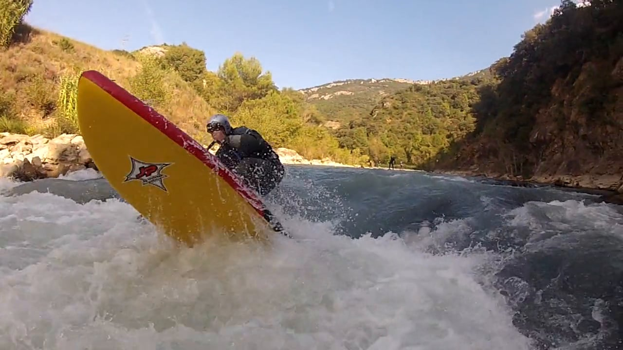 Whitewater SUP on the Gallego river in Spain