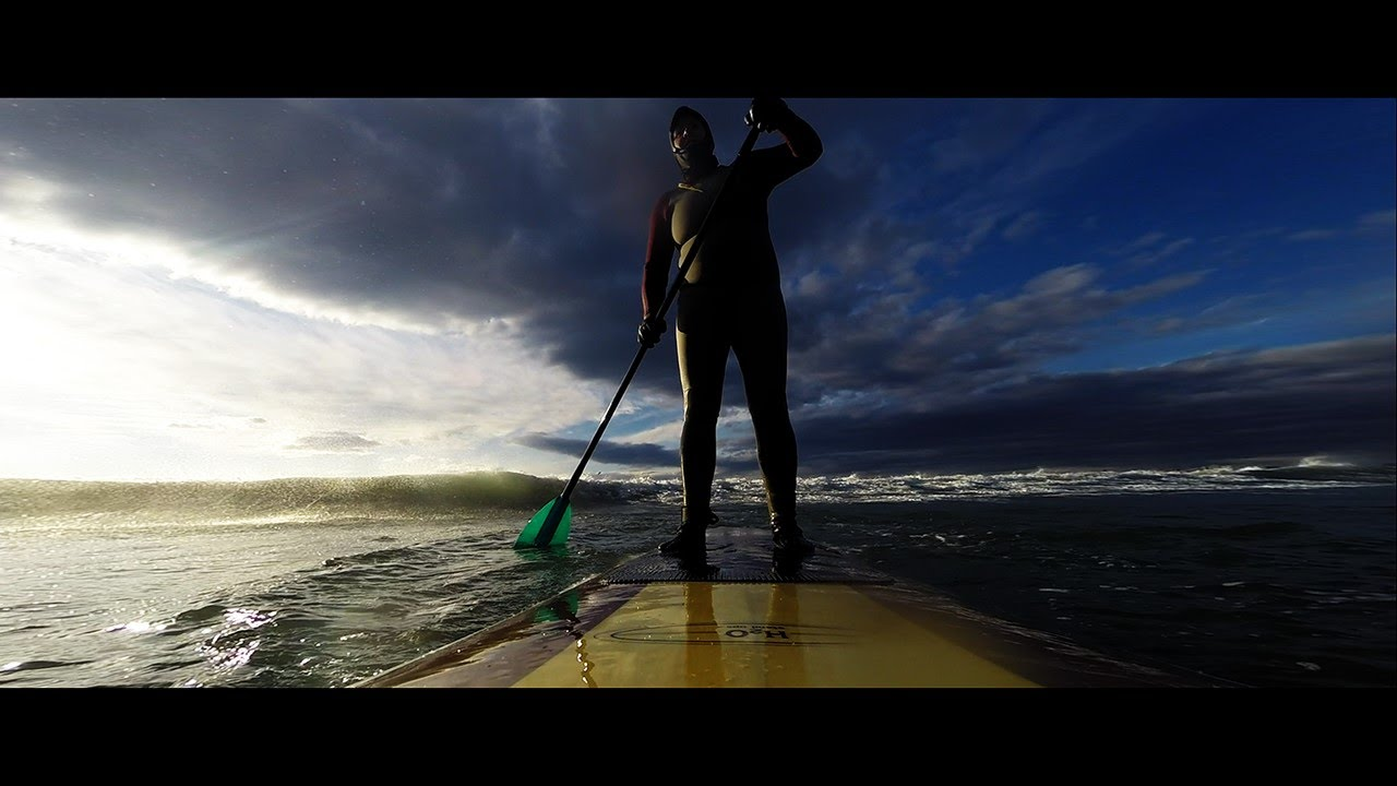 Wonderful drone footage of a SUP session in Nahant Beach, MA