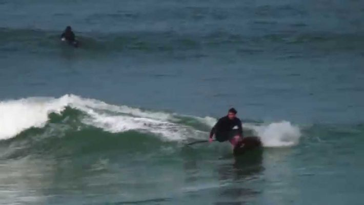 """Xavier Leroy SUP Surfing on a Gong Fatal 6'10"""" XTR"""
