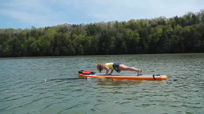 SUP Yoga on Walker Lake, Pennsylvania