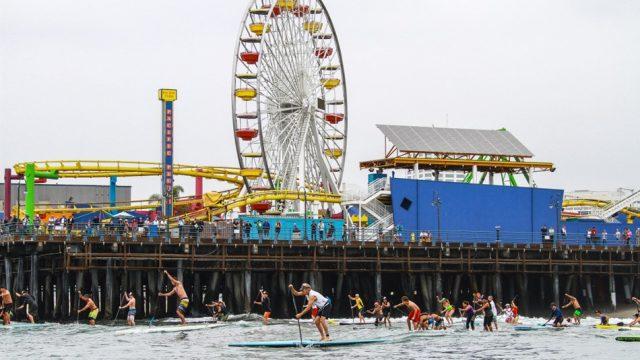 Tommy Bahama Santa Monica pier paddle