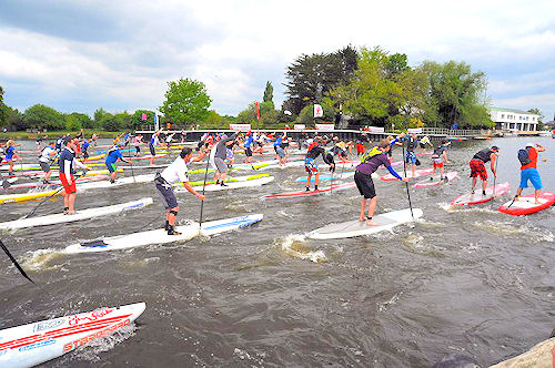 battle of the thames 2016 stand up paddle