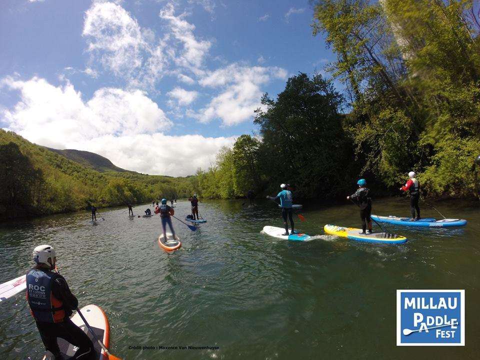 millau paddle fest 2016 group paddling