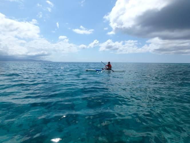 eau translucide stand up paddle