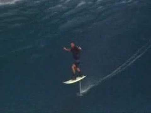 Laird Hamilton Foil Boarding in Maui
