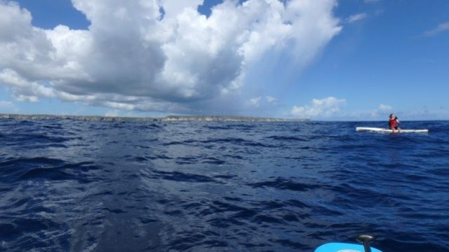 stand up paddle guadeloupe ocean nuage
