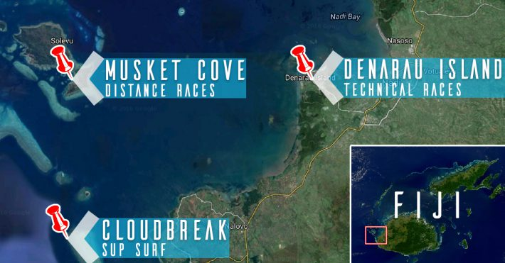 2016 Fiji ISA World: SUP Racing and Surfing Locations Revealed