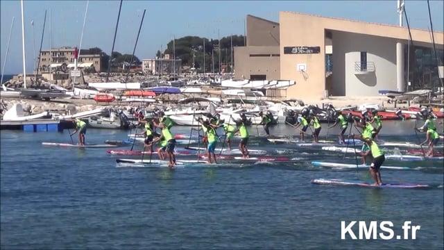 VIDEO: Départ du Waxx Summer SUP Challenge 2016 à Bandol