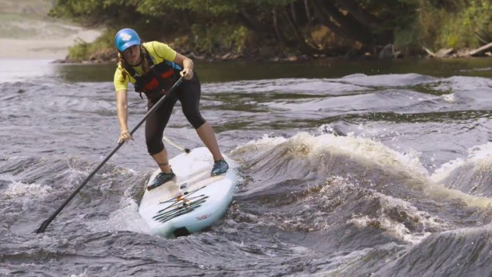 Whitewater SUP on the biggest rapid of the Ottawa River