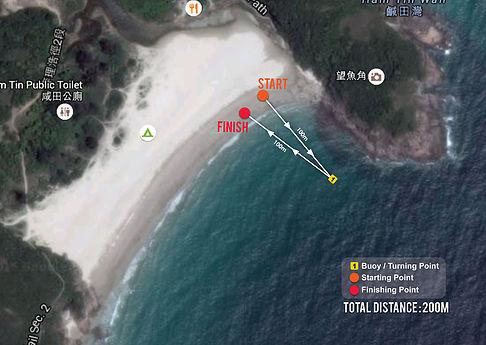 The 2nd Hong Kong International SUP Championship 200m Sprint Race map