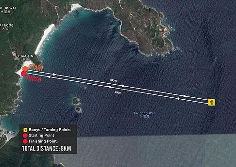 The 2nd Hong Kong International SUP Championship 8km Race map