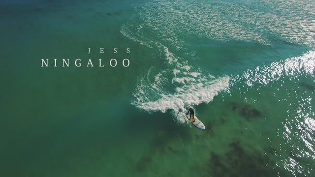 SUP Session Surf at Ningaloo beach, Western Australia
