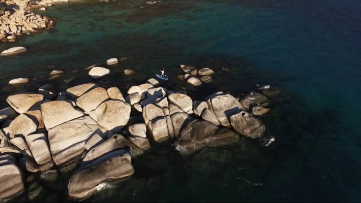 Amazing Stand Up Paddle Lake Tahoe Drone Video
