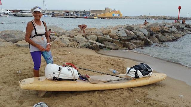 Joelle Terrien arrive à Barcelone