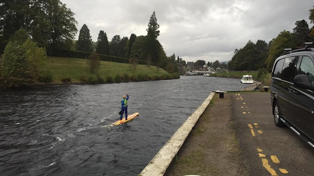 Joanne Hamilton-Vale at the Great Glen Paddle Challenge