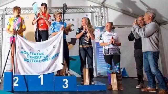 Nathalie Terol 4ème du Championnat de France de SUP Surf