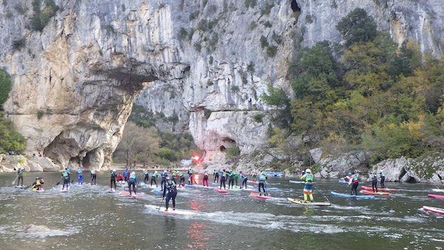 SUP race Gorges de l'Ardèche