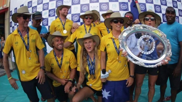 Team Australia, Champion of the World at the ISA Worlds in Fiji