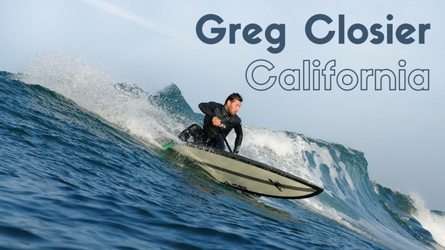 Greg Closier Surfe sur La Vague Californienne