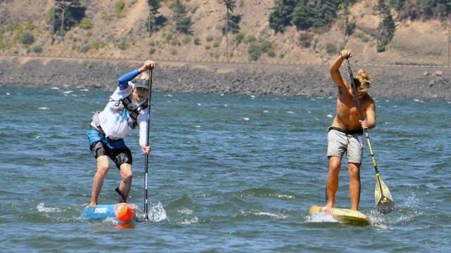 Bernd Roediger with Connor Baxter at the Gorge