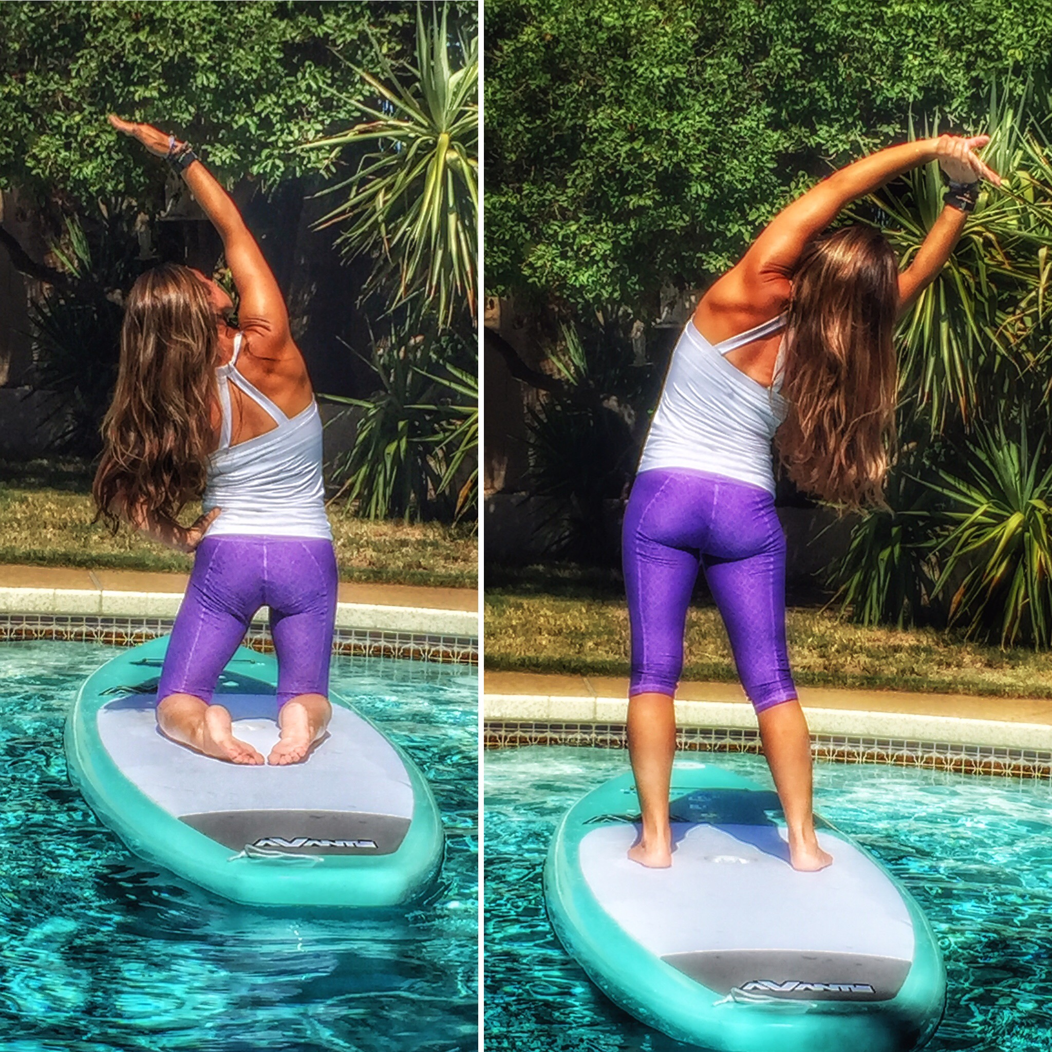SUP Yoga Side Stretches