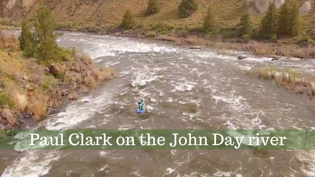Extreme whitewater SUP: Paul Clark in the Clarno Rapids