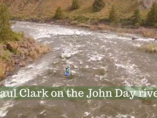 Paul Clark whitewater SUP on the John Day river