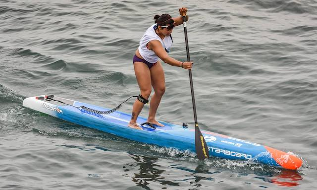 Angela Fernandes stand up paddle race