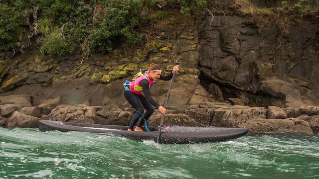 Annabel Anderson wins at the NZ SUP Nationals 2017