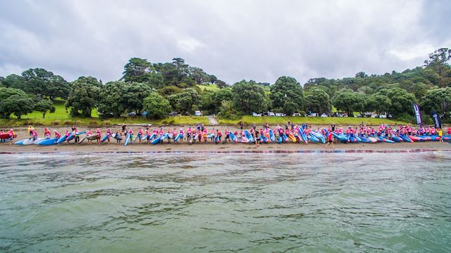 Starting line at the NZ SUP Nationals 2017
