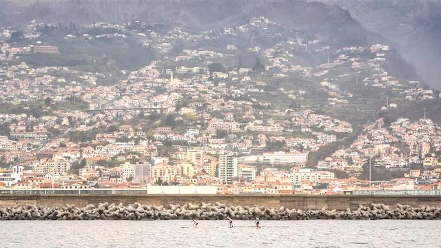 Stand Up Paddle Race on the Island of Madeira