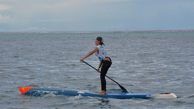 Leeloo Desanti SUP Race Tahiti