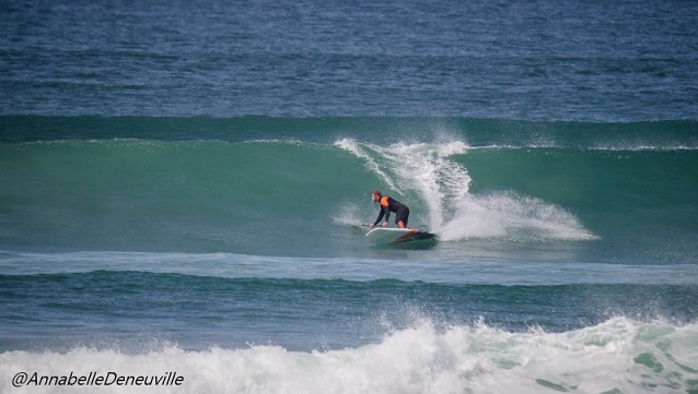 Loic Olivier on his SUP Board