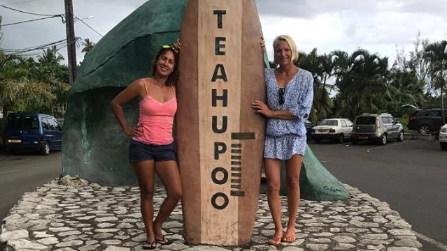 Sonni Honscheid in Tahiti