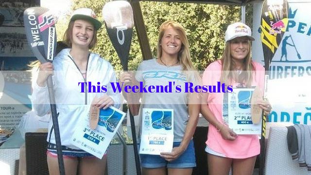 This Weekend's Results: Namur SUP Race, l'Eau Vive, Vendée Gliss Event…